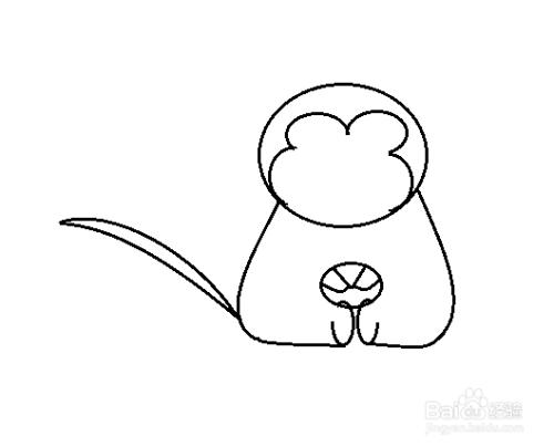 简笔画-猴子的简笔画如何画