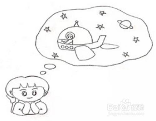 可爱小女生的梦想简笔画