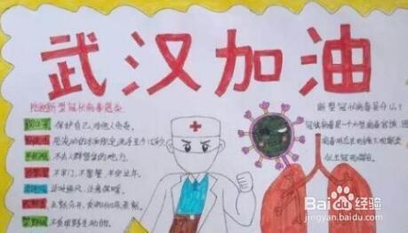 新型冠状病毒防疫手抄报