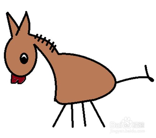 简笔画-小毛驴的简笔画如何画