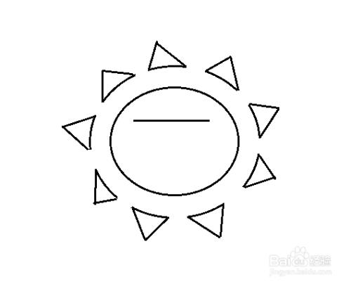 简笔画-酷酷的太阳的简笔画如何画