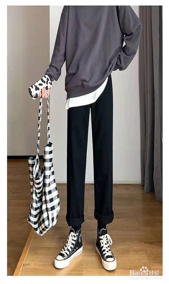 黑色阔腿裤怎么搭配上衣和鞋子才能够好...