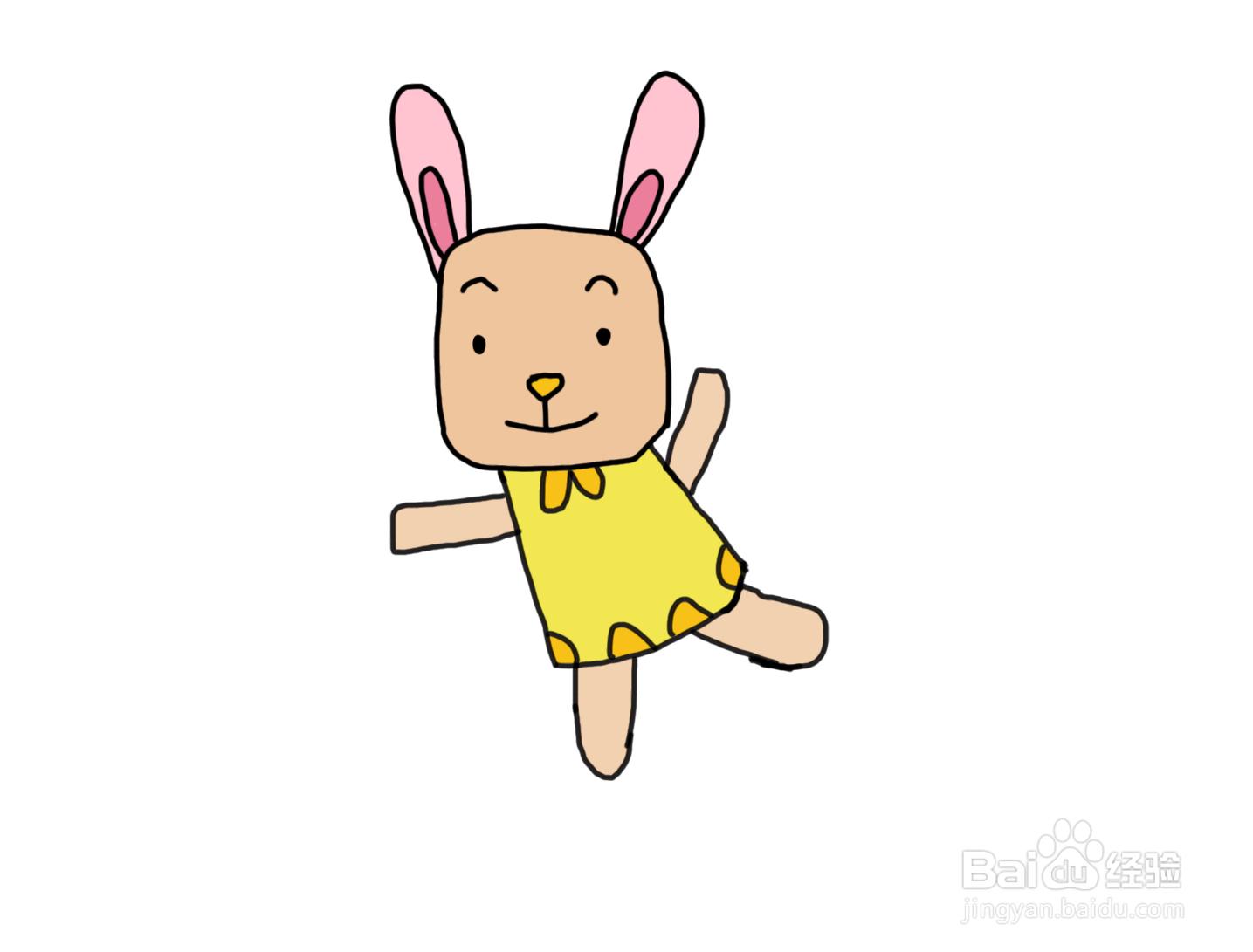 怎么画儿童彩色简笔画卡通动物可爱的小...