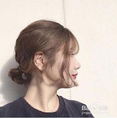 短发扎什么发型好看图片