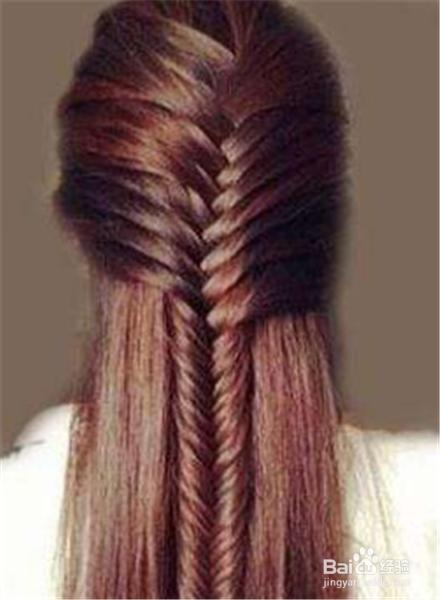 长发编发发型扎法图解图片