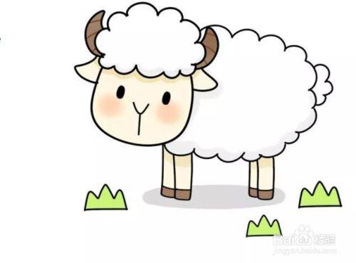 小羊的简笔画是怎么画的