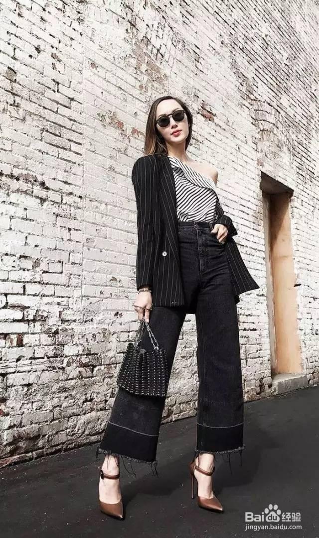 黑色阔腿裤怎么搭配上衣和鞋子才能够好看?