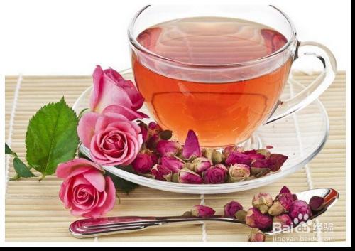 玫瑰花泡水图片