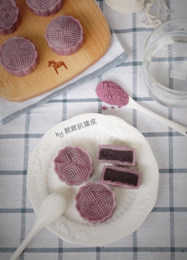 奶香紫薯冰皮月饼