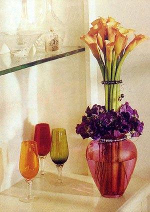 卧室摆放的花图片