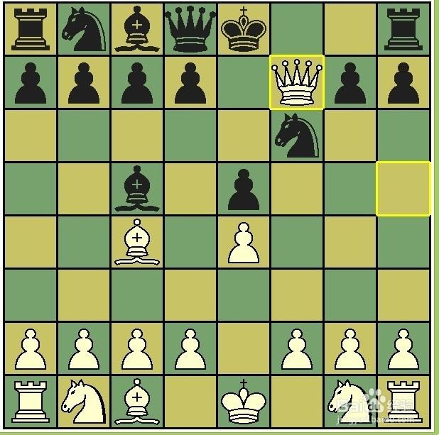 国际象棋开局四步杀