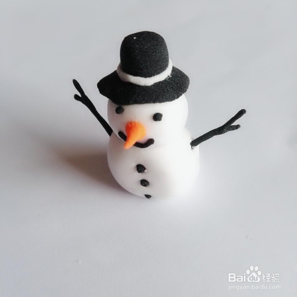 超轻粘土----绅士雪人怎么做