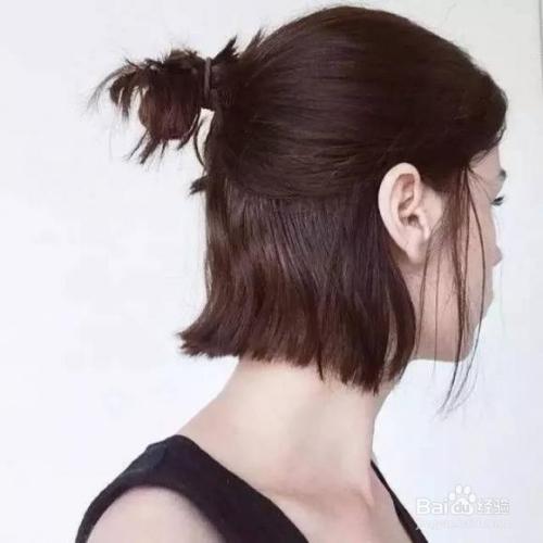 短直发怎么扎简单好看的步骤图片