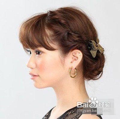 齐刘海编发图片短发发型图片