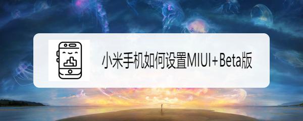 小米手机如何设置MIUI+Beta版