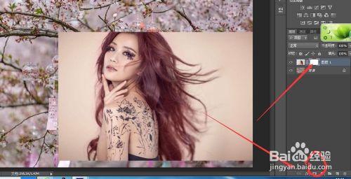 PS如何将一张图片直接拖拽到另一张图片上