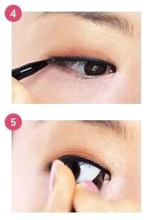 单眼皮眼妆的画法步骤图片
