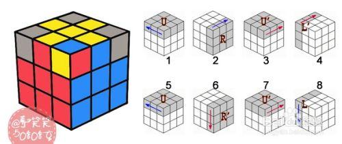 七步玩转三阶魔方还原公式图解 + 视频