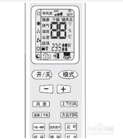 空调遥控器图标都表示是什么/是何图片