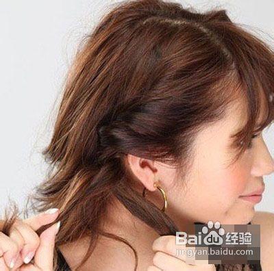 短发发型编发图片图片