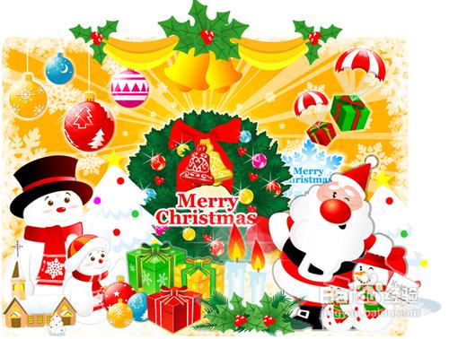 圣诞节祝福语英语30字图片