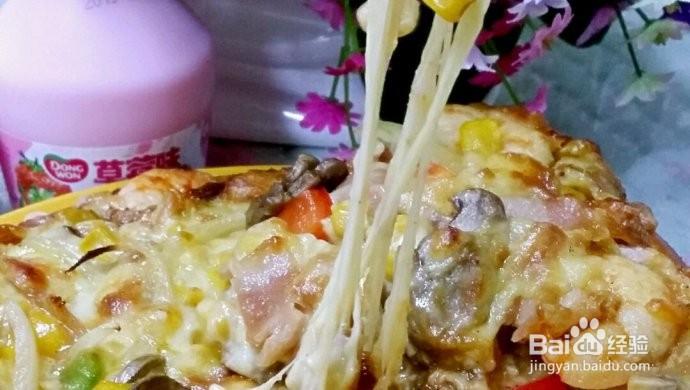 口蘑鲜虾披萨的做法