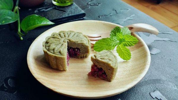 玫瑰茶香绿豆糕