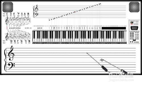 88键键钢琴键盘示意图_钢琴入门:钢琴键盘示意图-百度经验