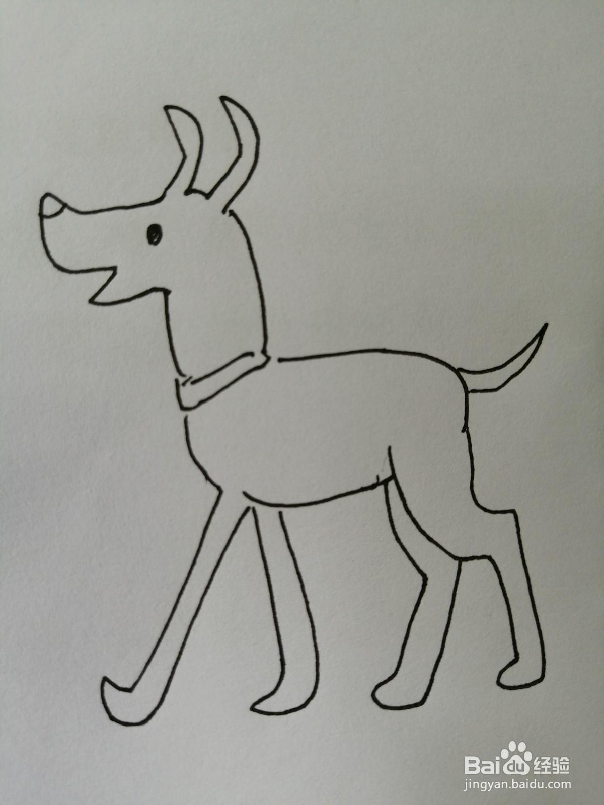 可爱的小狗怎么画